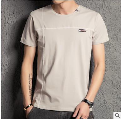 2017 New Solid color T Shirt Mens White T-shirts Summer Skateboard Tee Boy Hip hop Skate Tshirt Tops WQ-31