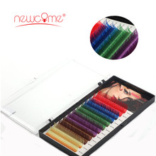 Colorful Eyelash Extension Natural Long soft Hand Made Korean Heat Resistant 3D Individual Color fake Lashes