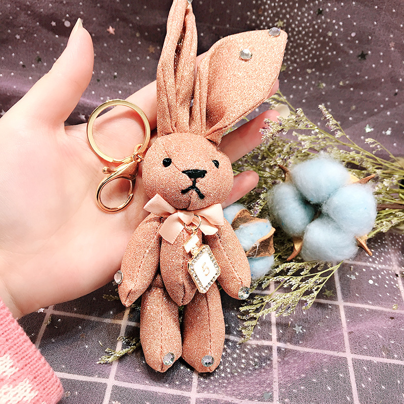 2019 Cute Wishing rabbit Key Chains Handmade Pokemon Bags Pendant Fashion Jewelry Ornament Car Keychain New Gifts Kids Toys image