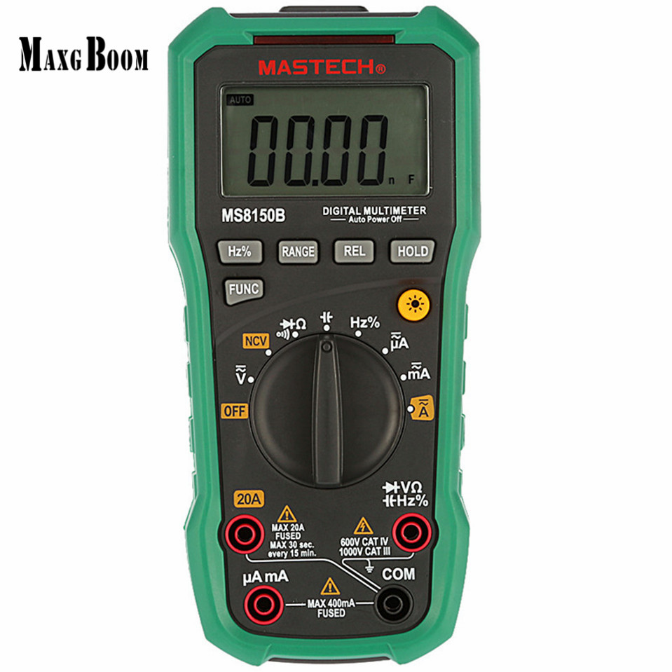 1pcs Mastech MS8150D Digital Multimeter Auto Range Ture RMS Handheld Portable Tester Meter Electrical Instrument Diagnostic-tool aimo m320 pocket meter auto range handheld digital multimeter