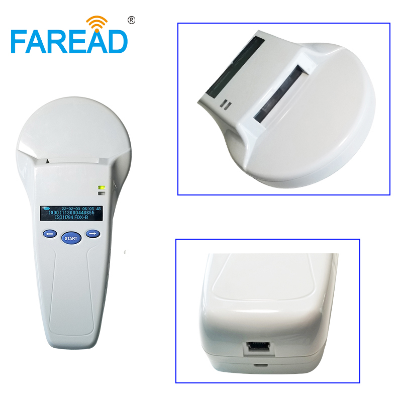 Rechargeable Pet Microchip Scanner USB And Bluetooth  134.2Khz FDX-B And HDX, ID64 Animal RFID Handheld Reader