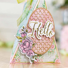 Letters Hello Good luck Notes Shine Bliss My Garden Flower Metal Cutting Dies for DIY Craft Making Card Scrapbooking