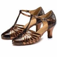 Genuine Leather 6CM Women Sexy Latin Dance Shoes Zapatos De Baile Mujer Women Ballroom Salsa Jazz