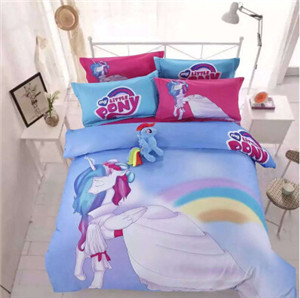 Free Shipping 100% Pure Cotton KIDS Cartoon Twin Queen Full Size Little Pony  Twilight Sparkle ...