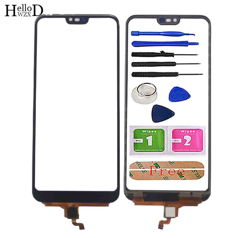 5.84'' Touch Screen Glass For Huawei Honor 10 Digitizer Front Outer Glass Sensor Touch Panel Part Mobile Phone Repair Tools