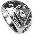 Размер 7-15 Всевидящий Глаз бога Кольцо Ретро Старинные Религиозные Христианские Перстнем Коктейль Байкер Перстень