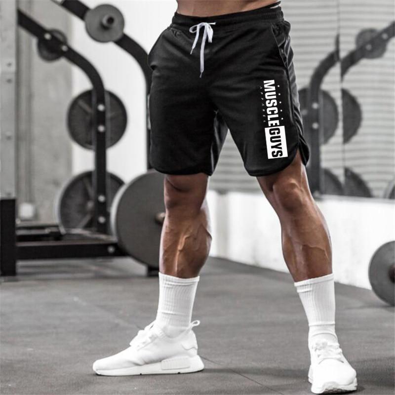 Muscleguys Gyms Shorts Mens Short Trousers Casual Joggers Mens Shorts Bodybuilding Sweatpants Fitness Men Workout Acitve Shorts