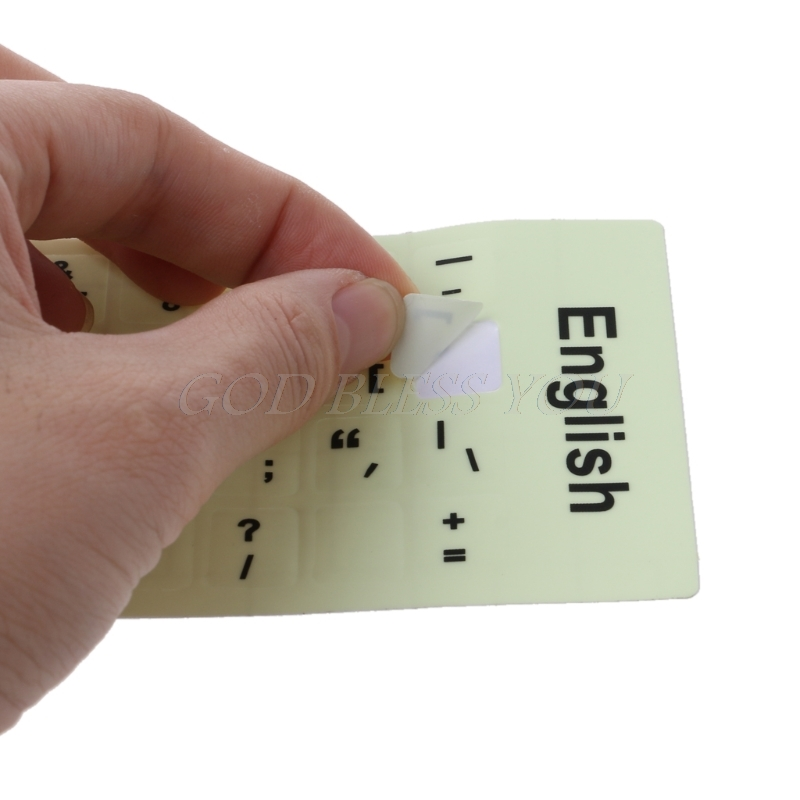 Fluorescent Keyboard Stickers Different Optional Language Luminous Waterproof Keyboard Protective Film Drop Shipping-5