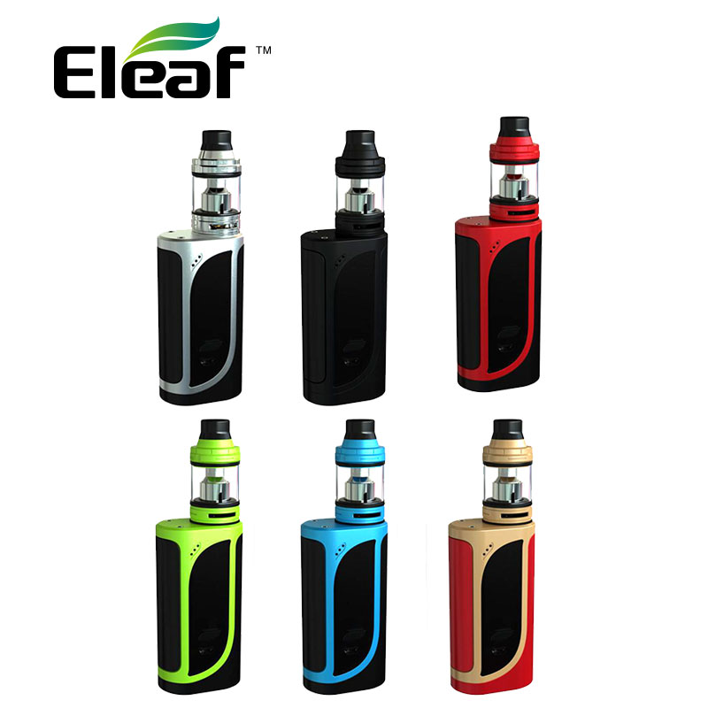 D'origine Eleaf IKonn 220 Boîte MOD avec 2 ml Ello Atomiseur Kit W/0.2ohm/0.3ohm HW Bobine Tête No18650 Batterie Dense Vapeur Eleaf Kit