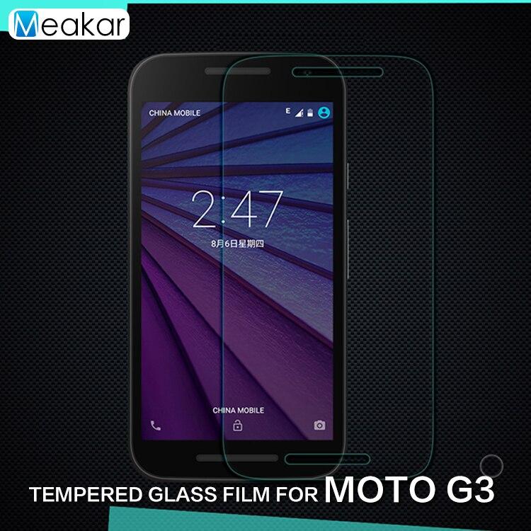 2.5D 9H Glass 5.0for Moto G3 Tempered Glass Film Screen Protector For Motorola Moto G3 G 3rd Gen XT1541 XT1542 XT1543 Phone