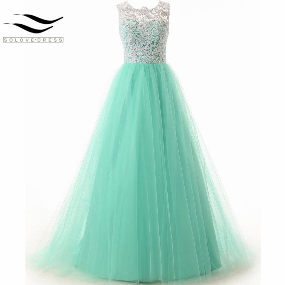 Online Shop 2018 New Style Green A-Line Lace Prom Dresses Straps ...