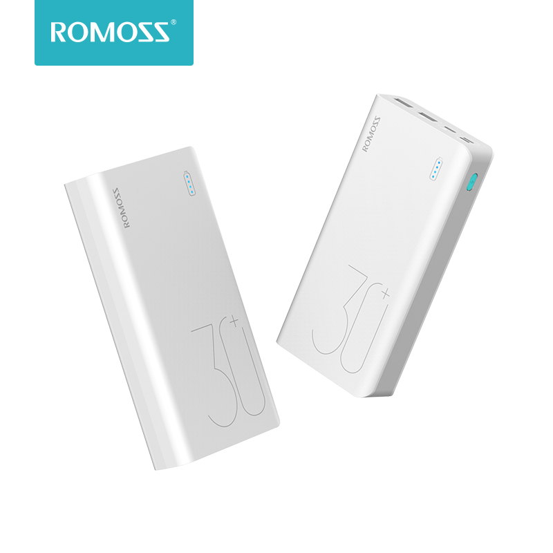 ROMOSS Sinn 8 + 30000 mah Power Bank Tragbare Externe Batterie Mit QC3.0 Schnelle Lade Tragbare Ladegerät Für Handys Tablet