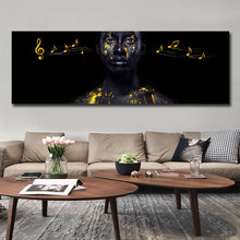 Africa Black Woman Art Prints on Canvas Modern Painting Wall Posters and For Living Room Decoration