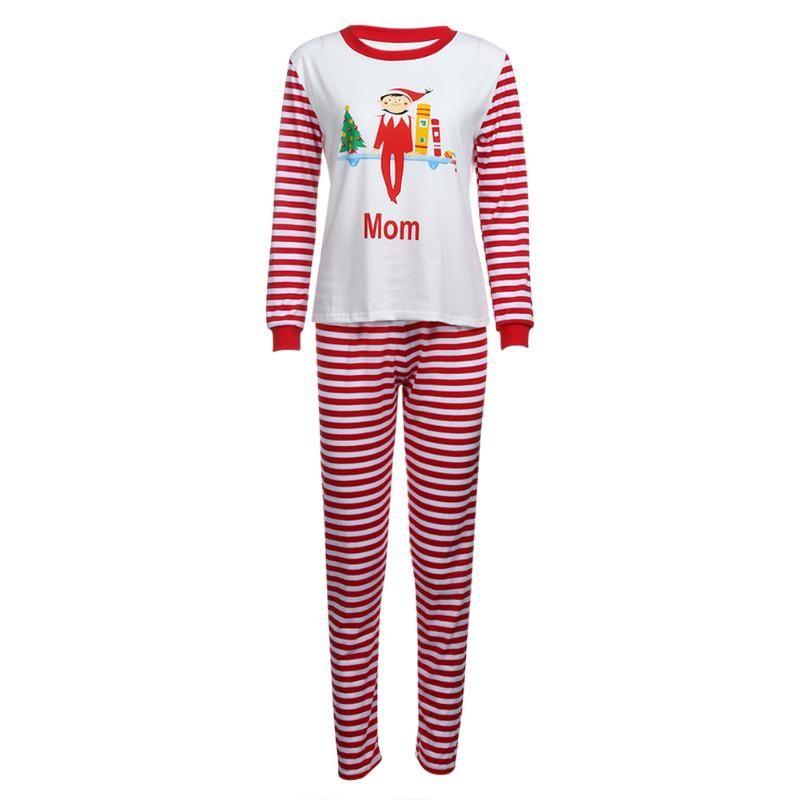 New Family Matching Clothing Set Christmas Printed Mom's Kids Dad T-shirt + Pants Family Clothes Set