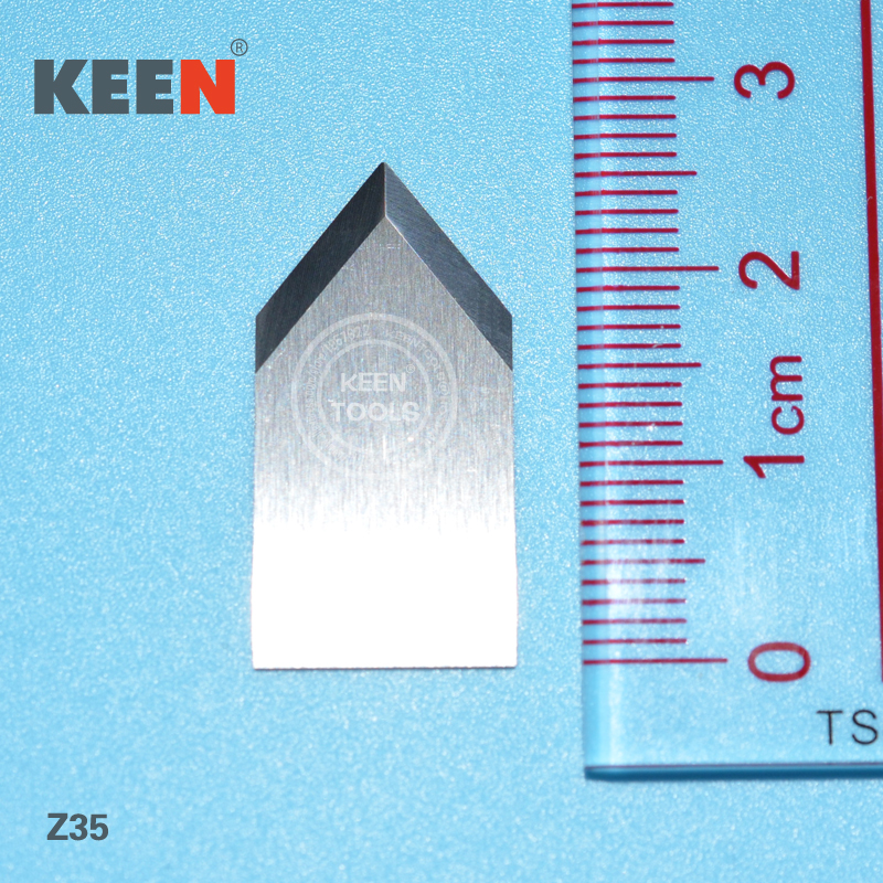 Tungsten carbide tipped grooving blade Cutting Graphics packaging Leather Z35
