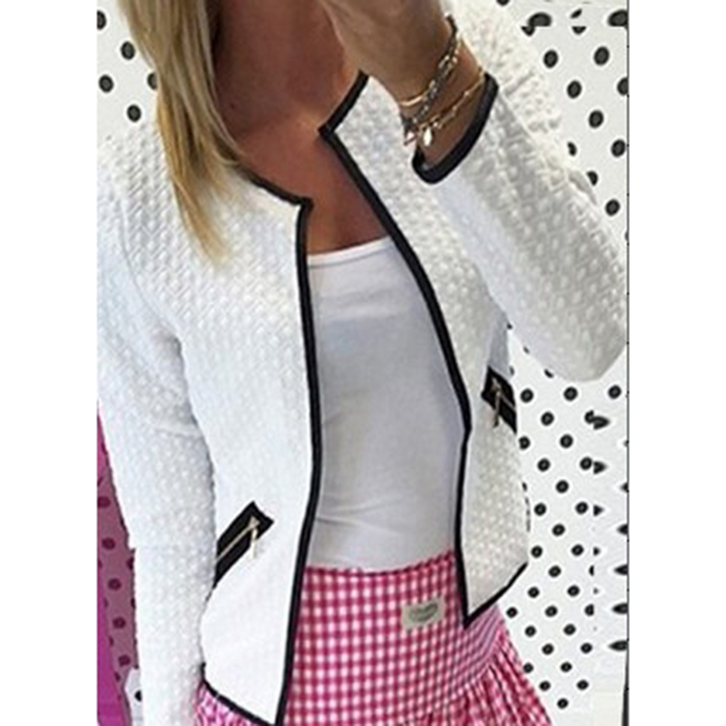 Hot Sale Women Fashion Solid Color Pocket Zipper Casual Jacket Coat 3 Colors Puls Size S-4XL Outerwear Female Clothing