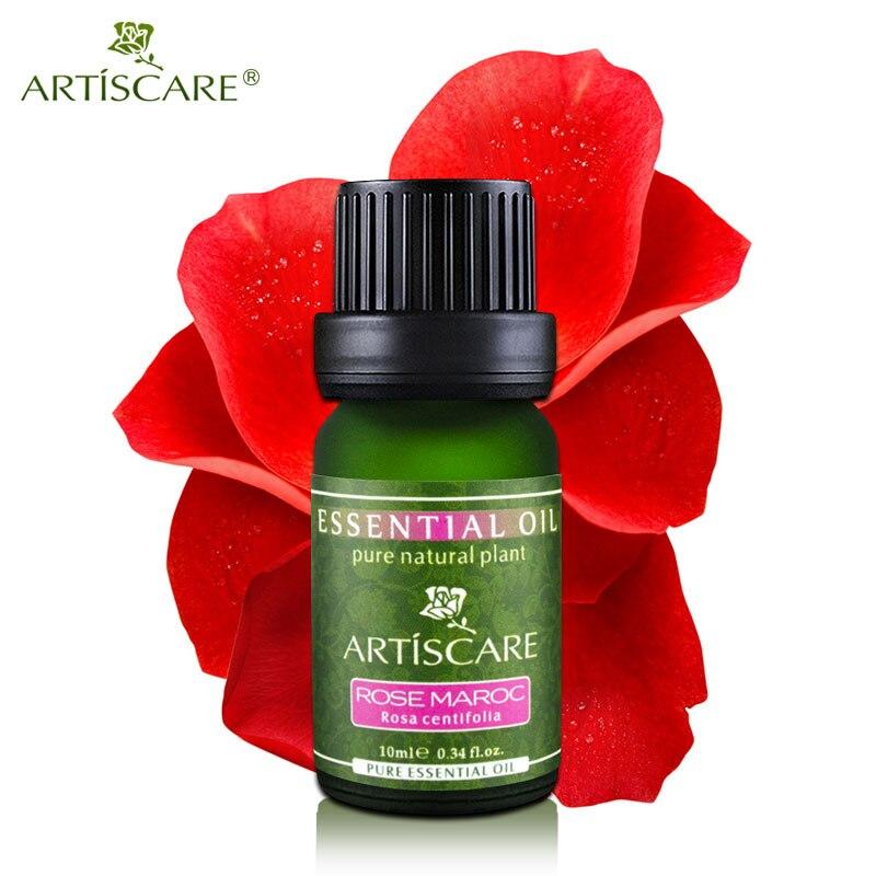 100% Naturale Olio Essenziale di Rosa 10 ml Idratare e Idratante Sbiancamento oli da Massaggio Cura Della Pelle Del Viso Marocco Puro olio di Rosa