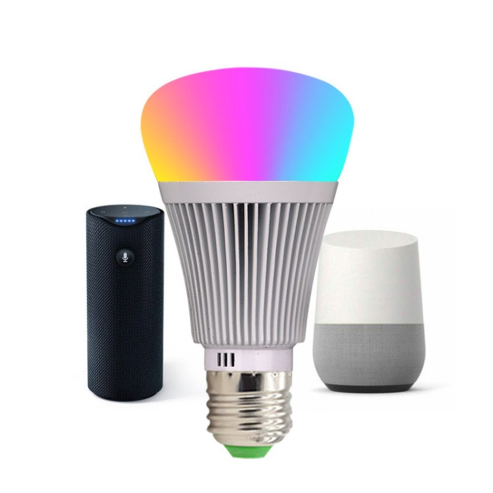 Auraglow 7w Remote Control Colour Changing Led Light Bulb: Smart Wifi Bulbs APP Remote Control Dimmer 7W LED Light