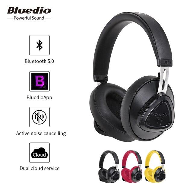 Bluedio TMS активный шумоподавитель Bluetooth Беспроводные наушники с микрофоном монитор Студия Беспроводная гарнитура Голосовое управление