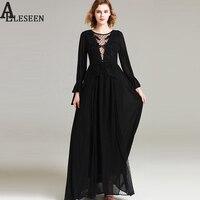 European Elegant Long Dress 2017 Summer New Fashion Full Flare Sleeve Patchwork Mesh Embroideery Floor-Length Vintage Dress