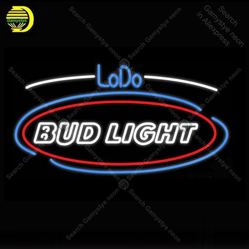 Neon Bulbs & Tubes Light Bulbs Diligent Lodo Bud Light Neon Sign Glass Tube Handmade Atarii Avize Neon Light Sign Decorate Hotel Room Iconic Neon Light Lamps Advertise Clearance Price
