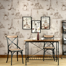 American retro wallpaper nostalgic iron tower cafe personality industrial wallpaper restaurant clothing store hotel barber mural free shipping retro wallpaper color wood container trunk restaurant cafe ktv large mural wallpaper