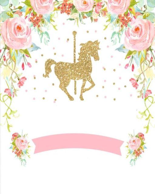 5x7ft gold carousel horse unicorn pink flowers baby shower custom 5x7ft gold carousel horse unicorn pink flowers baby shower custom photo studio backdrop background banner vinyl mightylinksfo