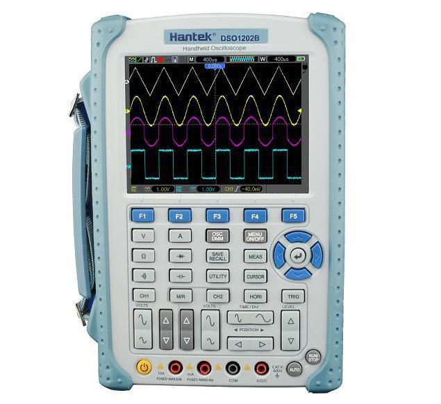 Hantek DSO1202B 2 Kênh Kỹ Thuật Số Dao Động 200 mhz Băng Thông Handeld USB Osciloscopio DMM Vạn Năng 1GSa/s Tỷ Lệ Mẫu