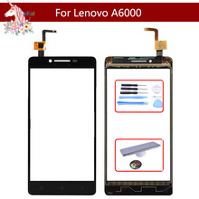10pcs/lot High Quality 5.0 For Lenovo A6000 A 6000 Touch Screen Digitizer Sensor Outer Glass Lens Panel Replacement