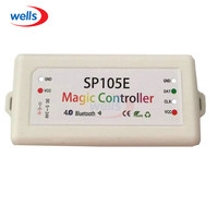 SP105E Magia Controlador Bluetooth 4.0 DC5-24V 2048 Pixels para WS2811 2812 2801 6803 IC LED Strip Suporte IOS/Android APP
