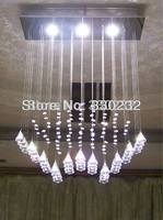 3 Lights Sector LED Crystal Chandelier Newest Design Wholesale Price Direct From Factory