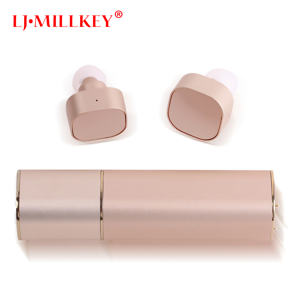 TWS Invisible Mini Headset 3D Stereo Hands-free Noise Reduction Bluetooth Headset Wireless Earphones and Power Bank box YZ135 mini wireless headphone bluetooth earphone earbuds airpods tws headset for hands free calling with power bank for mobile