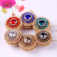 12pcs Wholesale Women Scarves Brooch magnetic Crystal Jewelry Accessories Muslim Headscarf Abaya Hijab Scarf Magnet pin