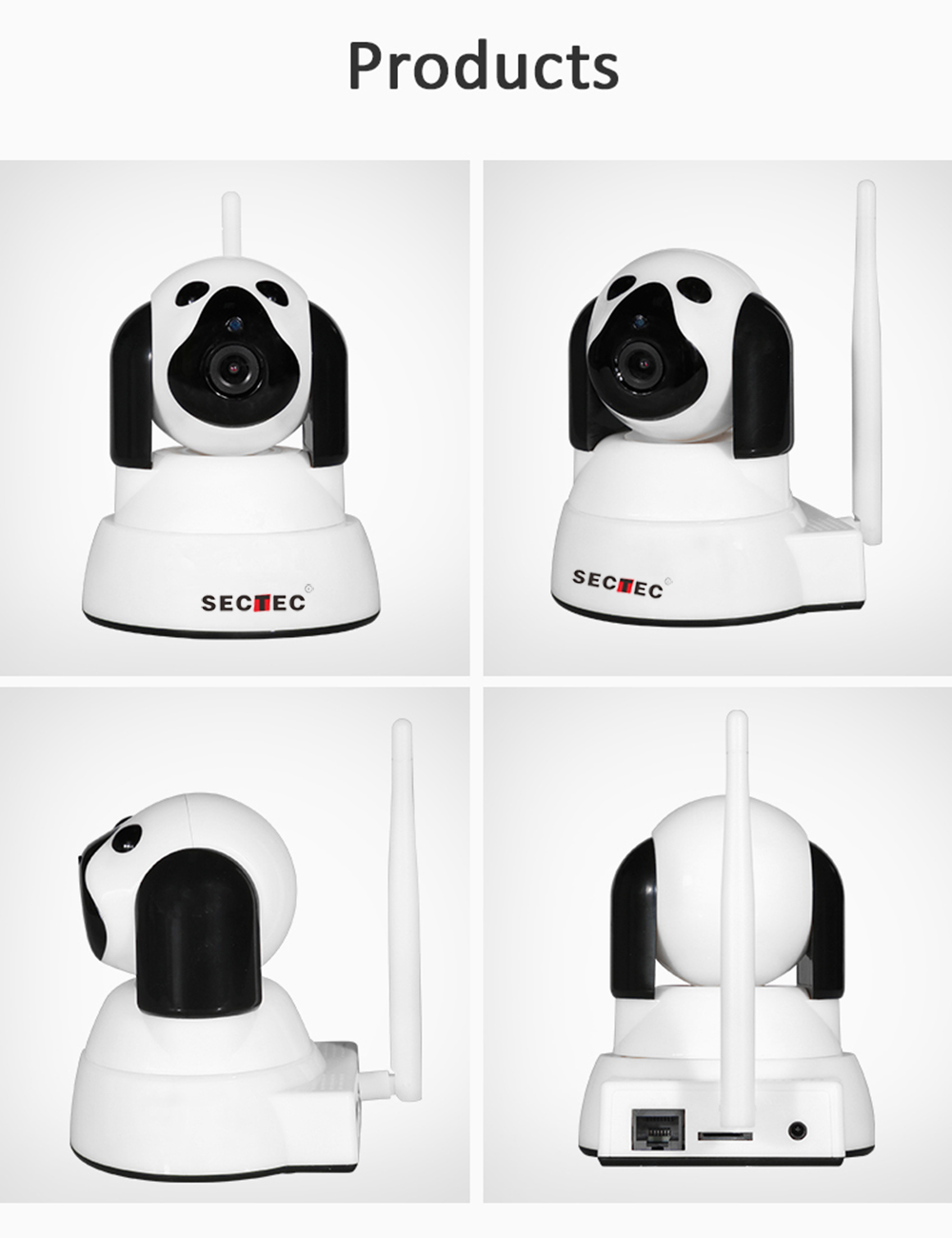 HD WiFi IP Camera Smart Dog 720P Home Security Wireless Caemra9