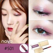 NOVO New Metal Liquid Eyeshadow Glitter Eye Shadow Makeup Waterproof Shimmer Lum
