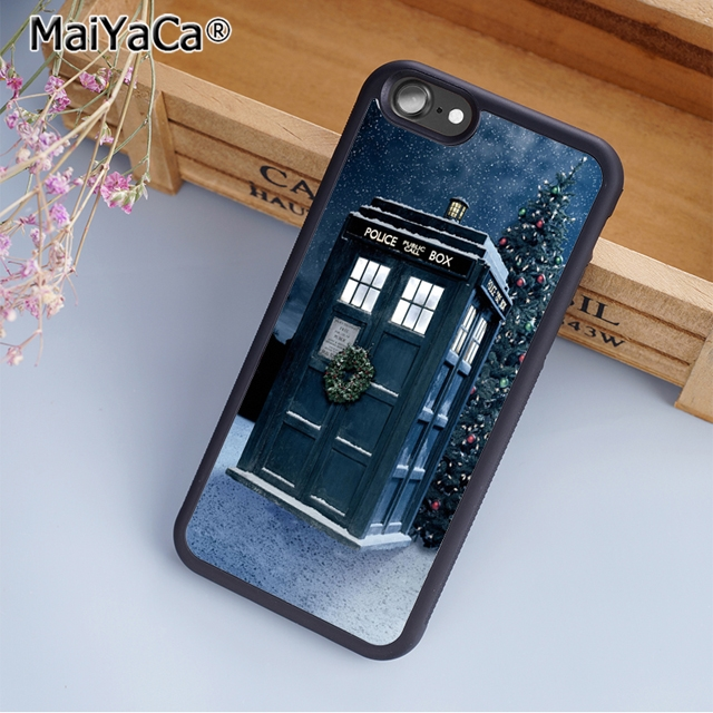 Fitted Cases Responsible Maiyaca Doctor Who Christmas Tardis Phone Case Cover For Iphones Se 6 6s 7 8 X Xr Xs Max Samsung Galaxy S6 S7 Edge S8 S9 Plus Online Discount