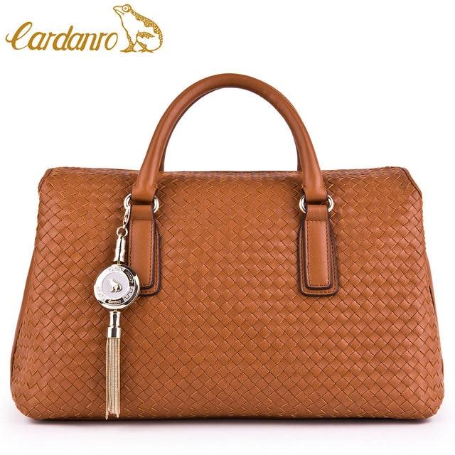 Cardanro 2013 women s genuine leather handbag first layer of cowhide luxury  handmade knitted women s handbag 379a286b252fc