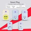 Wifi inteligente de Viaje Enchufe de LA UE EE.UU. REINO UNIDO Zócalo de Energía A Distancia automatización del hogar 100-240 v 10a max2000w para iphone xiaomi ios android controles