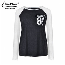 b50fed56 Women T-shirt Tops Long Sleeve Women Tops Elia cher brand Chic Fashion Plus  Size Causal Women Clothing Elastic Fabric
