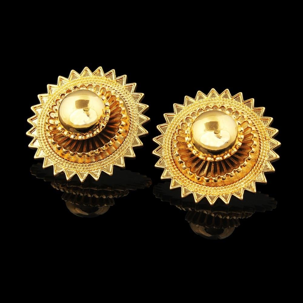 Ethiopian wedding jewelry sets earringsringpendantbangle Gold