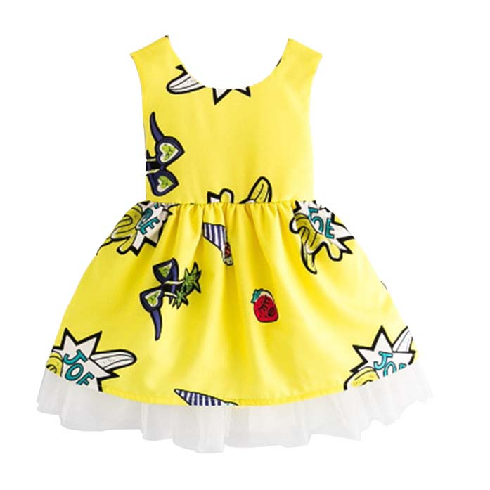 V-TREE Summer Princess Lace Dresses For Girl Flower Fancy Dress Kids A-line Baby Kids Party Dress 2-8 Years Children Clothing