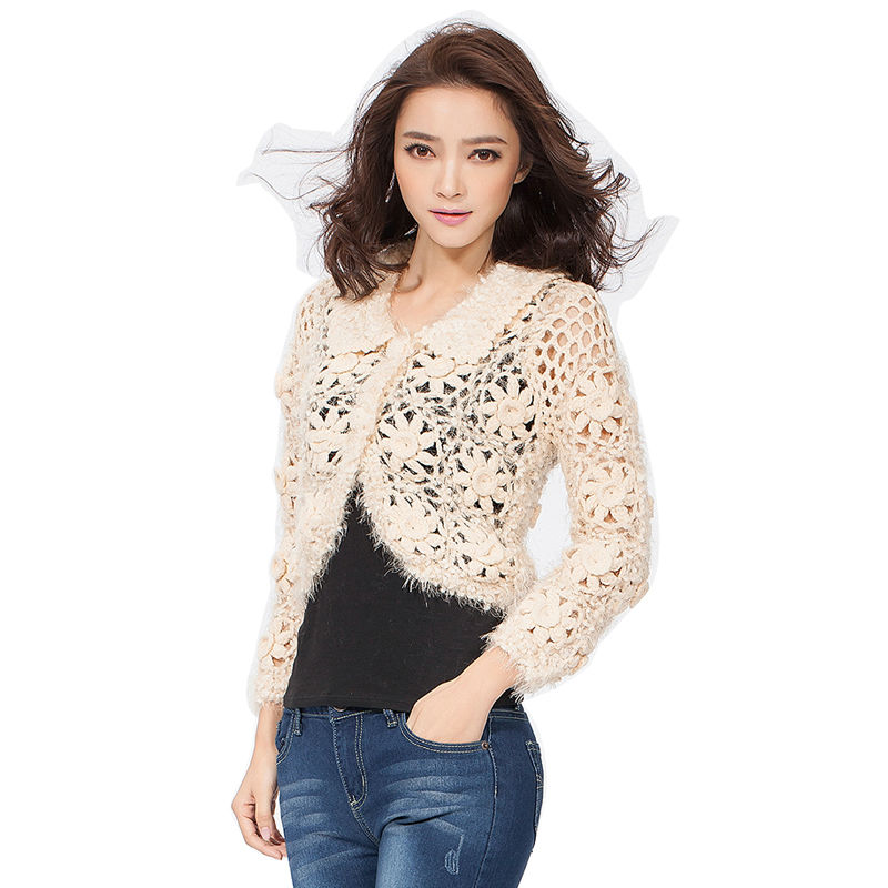 Hand knitted Autumn Elegant Fashion Women Cardigan Sweaters Thick ...