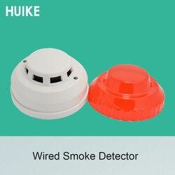 1 sztuk 12VDC do użytku w pomieszczeniach sufit detektor dymu 4 rdzeń kabla kontroli ognia czujnik alarmu NC NO opcji wyjścia sygnału