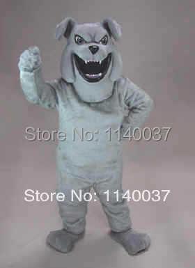 talismanas Pilka Bulldog Barky Mascot Kostiumų Cartoon Simbolis - Karnavaliniai kostiumai - Nuotrauka 1