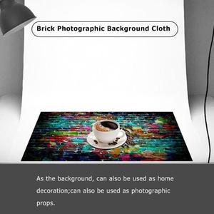 Image 4 - 5 Sizes Brick Texture Photo Background Cloth Plate Photo Backdrop Studio Photography Props Screen Home Decor Studio Accessories