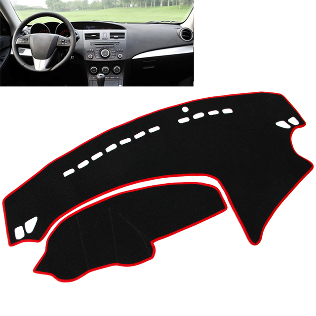 Dashboard Cover Pad Dashmat Dash Mat Sun Shade Carpet Pad For 2009-2013 Mazda 3