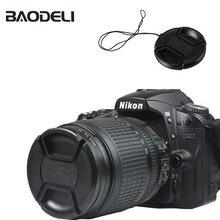 BAODELI Camera Cover Concept 43 49 52 55 58 62 67 72 77 82 mm Canon Sony A6000 Fujifilm Nikon Universal Lens Cap Accessories