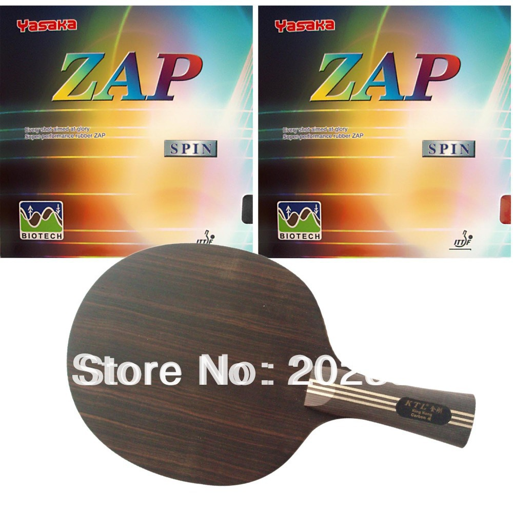 цена на KTL King Long Shakehand-FL with 2Pieces Yasaka ZAP SPIN NO ITTF BIOTECH 2015 Factory Direct Selling