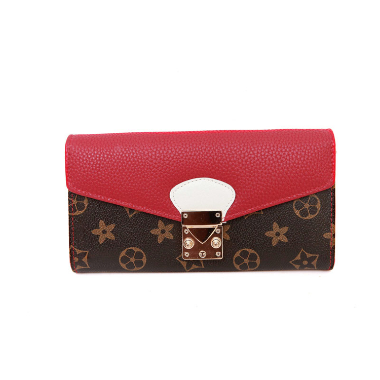 Wholesale Europe Famous Designer Vintage Printing Long Wallet Women Luxury Brand Money Bag Clutch Purse