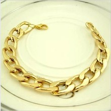 New free shipping wholesale fashion gold charm alloy thick chain bracelet men jewelry high quality brand factory price hot